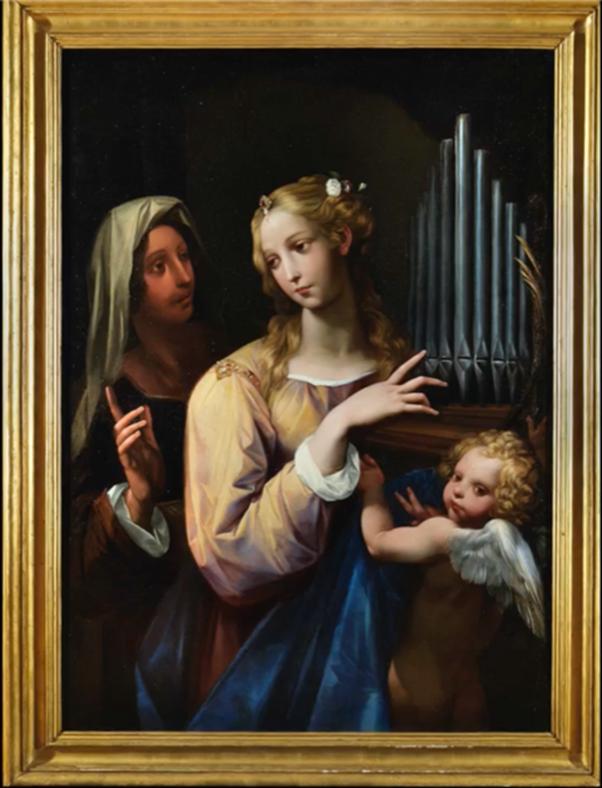 <strong>Fondazione Sorgente Group: <em>la musica dal cielo</em> nella <em>Santa Cecilia</em> del Cavalier d'Arpino</strong>