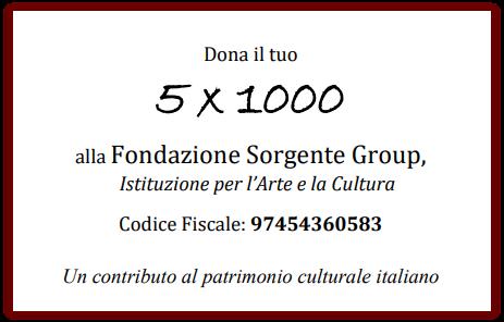 5×1000 alla Fondazione Sorgente: un contributo al patrimonio culturale italiano